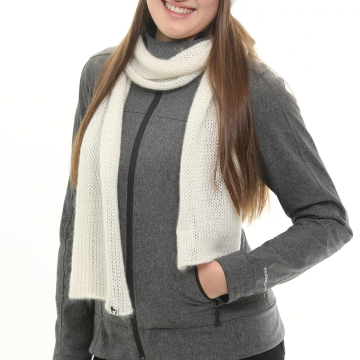 Kid mohair and bambou jersey scarf