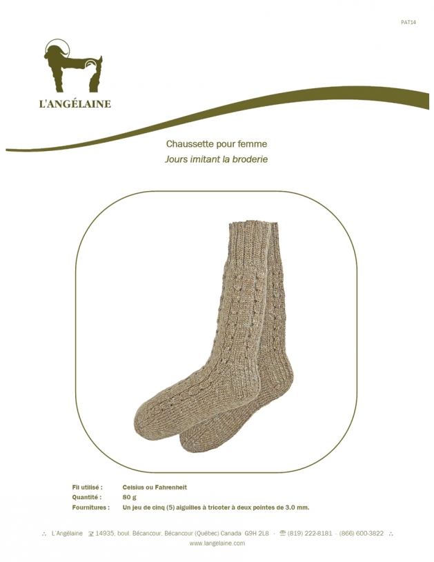 Sock patter for women (broderie)