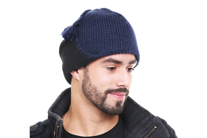 Kid mohair knight tuque